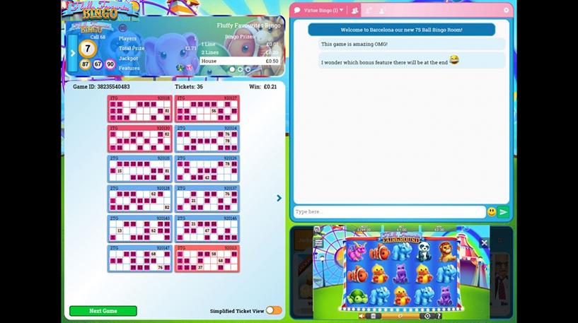 Fluffy Favourites Bingo Screenshot 3