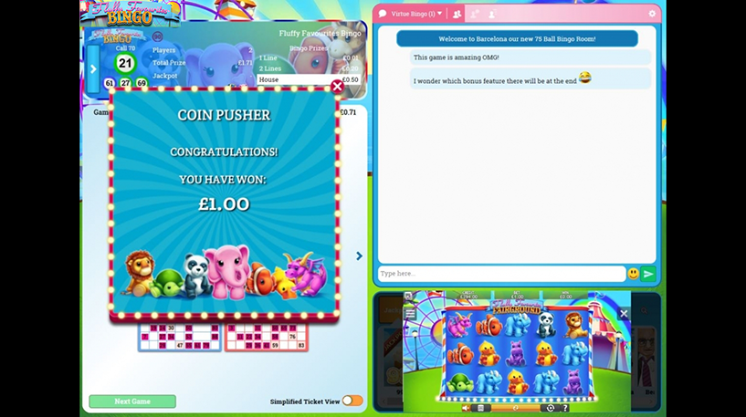 Fluffy Favourites Bingo Screenshot 2