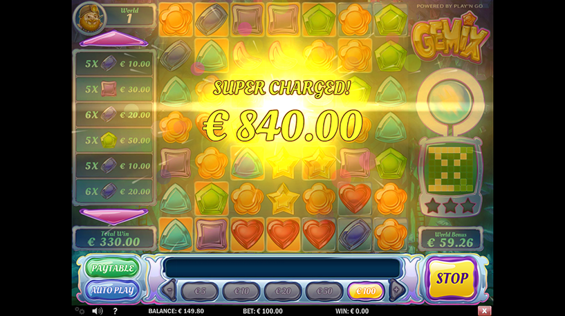Gemix Slot Screenshot 1