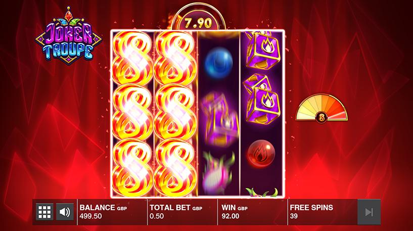 Joker Troupe Slot Screenshot 1