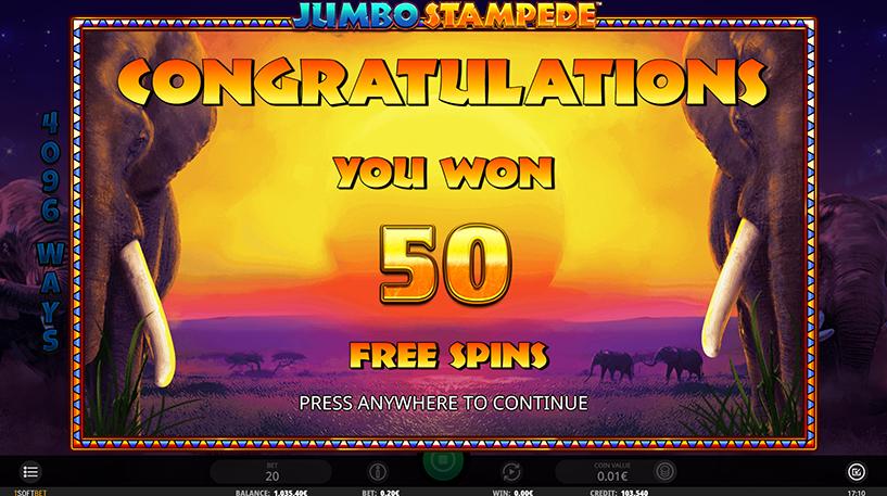 Jumbo Stampede Slot Screenshot 1