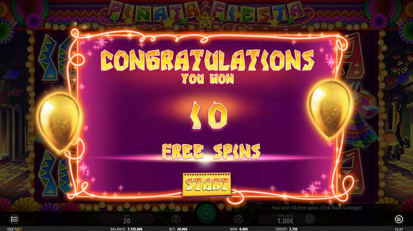 Piñata Fiesta Slot Screenshot 1