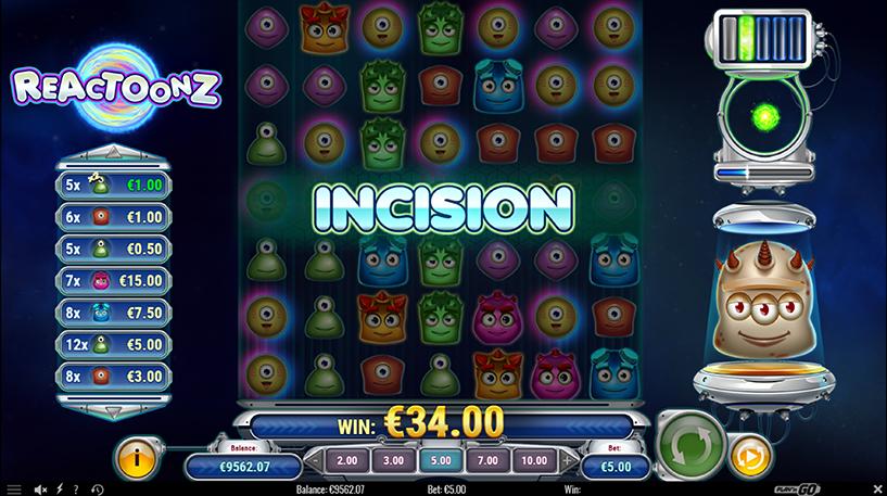 Reactoonz Slot Screenshot 2