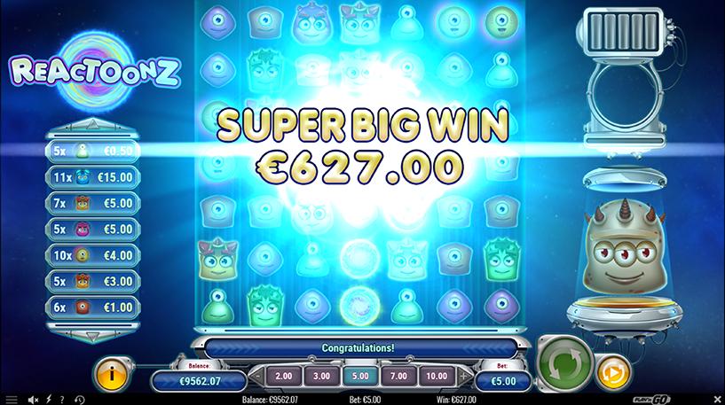 Reactoonz Slot Screenshot 3