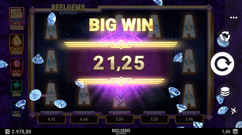 Reel Gems Deluxe Slot Screenshot 3