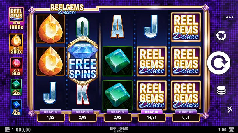 Reel Gems Deluxe Slot Screenshot 2