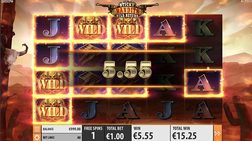 Sticky Bandit: Wild Return Slot Screenshot 3