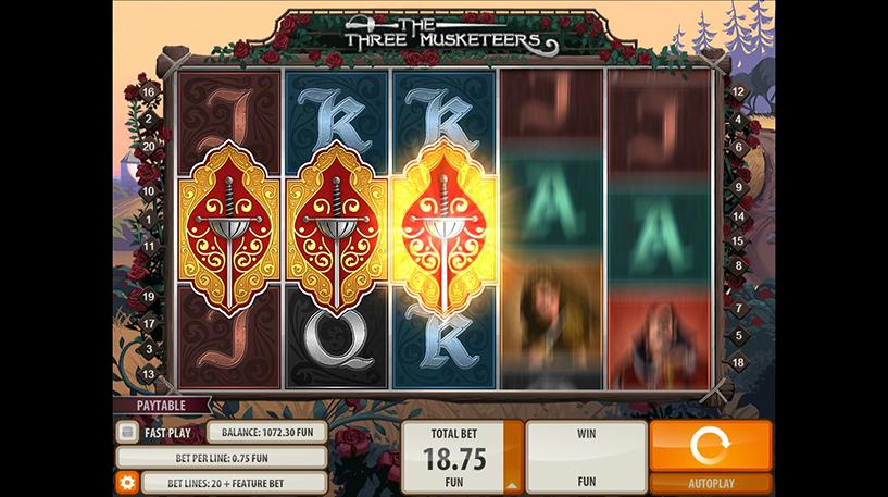 The Three Musketeers Slot Screenshot 3