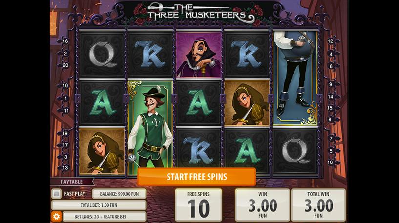 The Three Musketeers Slot Screenshot 1