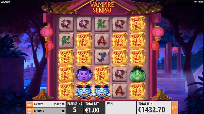 Vampire Senpai Slot Screenshot 3