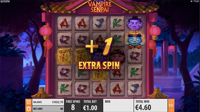 Vampire Senpai Slot Screenshot 2