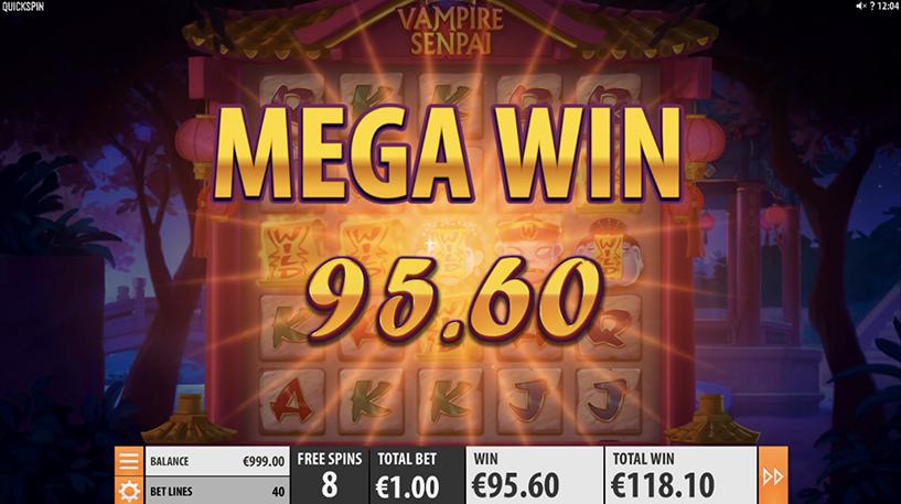 Vampire Senpai Slot Screenshot 1