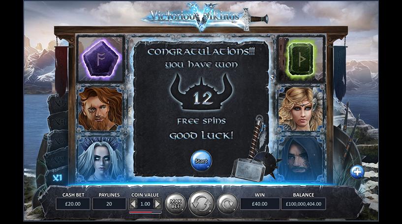 Victorious Vikings Slot Screenshot 1