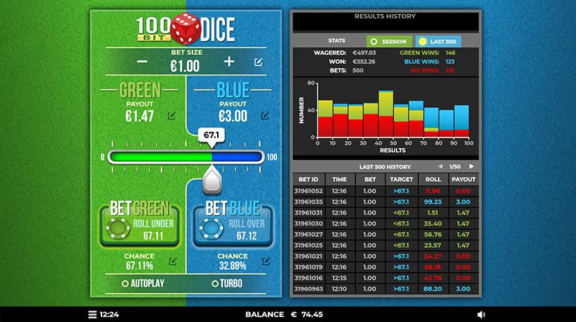 100 Bit Dice Game Screenshot 2