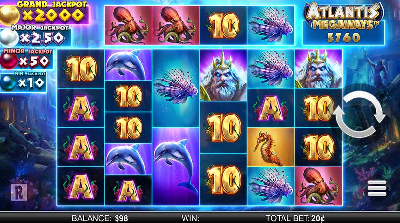 Atlantis Megaways Slot Screenshot 1