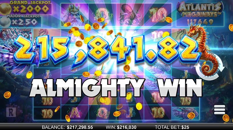 Atlantis Megaways Slot Screenshot 2