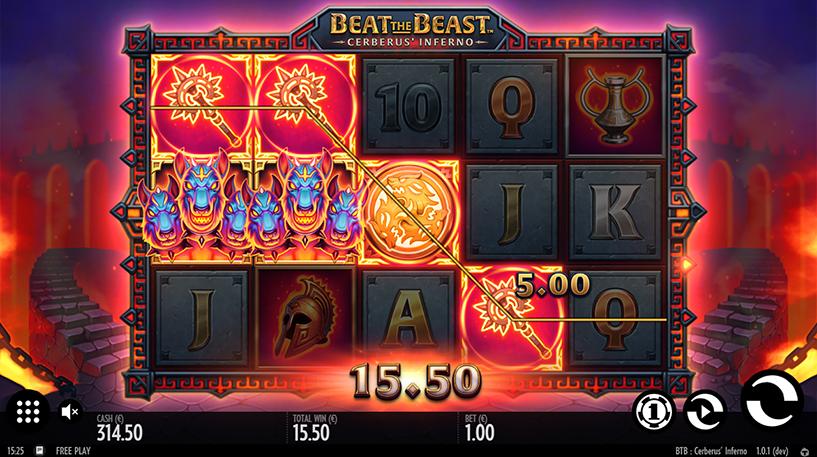 Beat the Beast: Cerberus Inferno Slot Screenshot 2