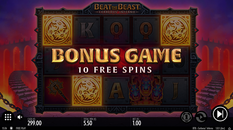 Beat the Beast: Cerberus Inferno Slot Screenshot 1