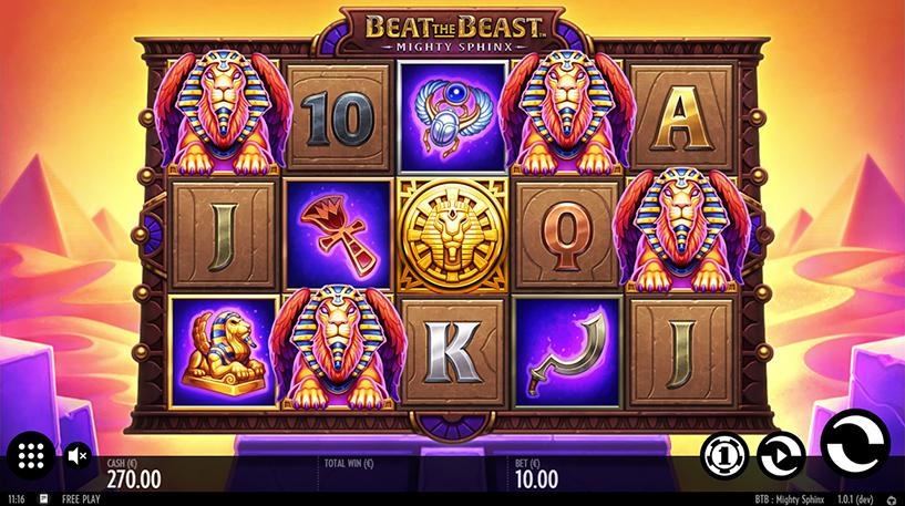 Beat the Beast: Mighty Sphinx Slot Screenshot 3