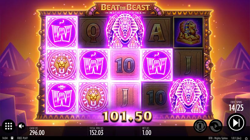 Beat the Beast: Mighty Sphinx Slot Screenshot 1