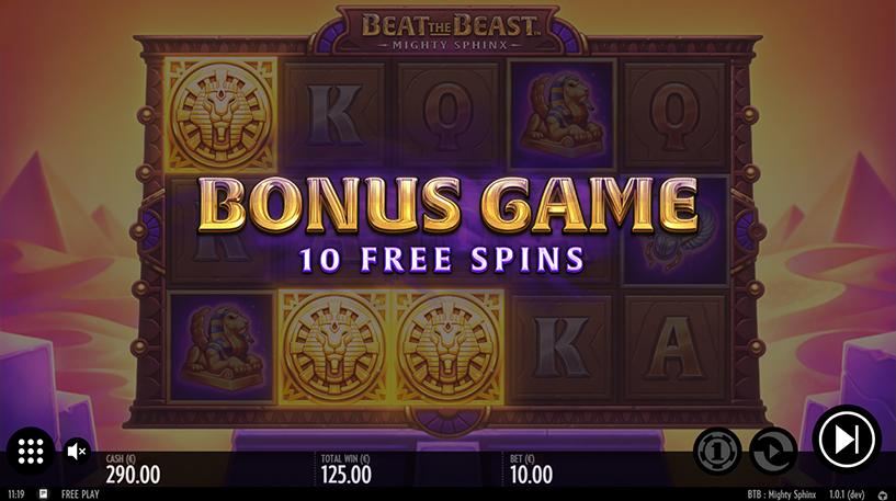 Beat the Beast: Mighty Sphinx Slot Screenshot 2