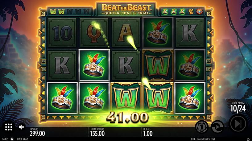 Beat the Beast: Quetzalcoatl's Trial Slot Screenshot 2