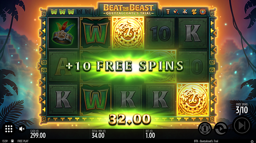 Beat the Beast: Quetzalcoatl's Trial Slot Screenshot 1
