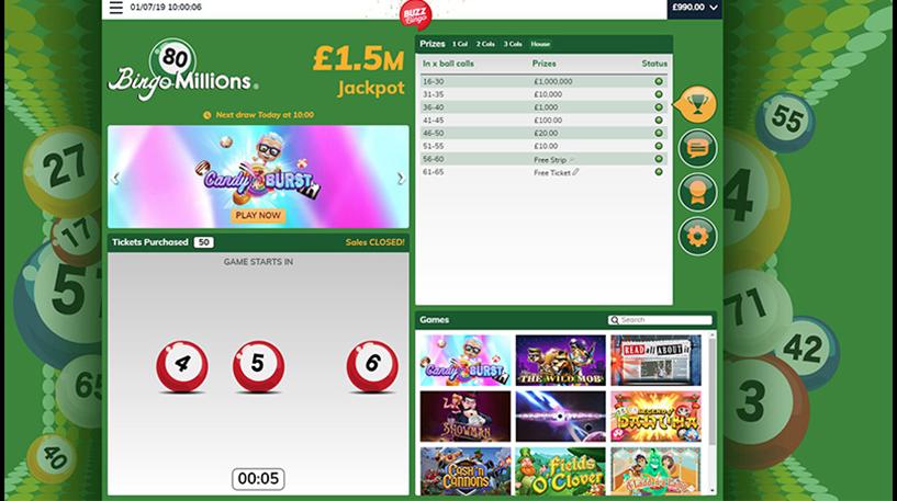 Bingo Millions – 80-Ball Bingo Screenshot 1