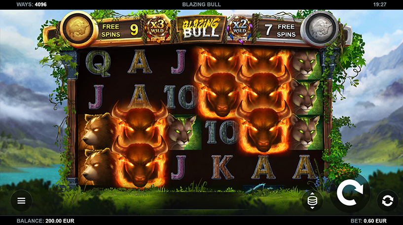 Blazing Bull Slot Screenshot 1