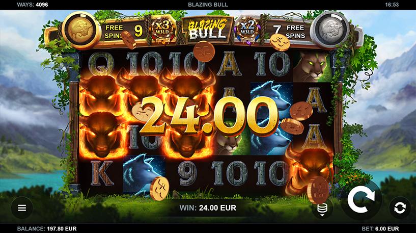 Blazing Bull Slot Screenshot 2