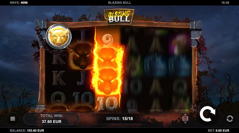 Blazing Bull Slot Screenshot 3