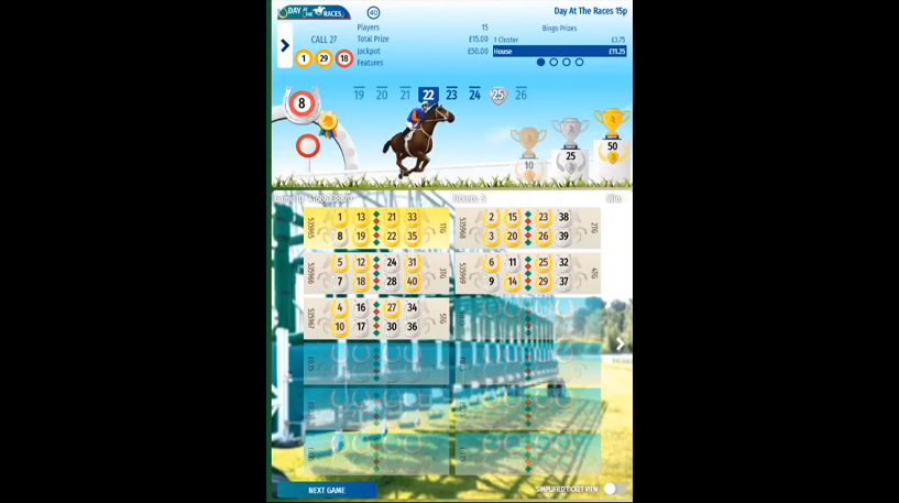 Day at the Races Bingo Screenshot 2