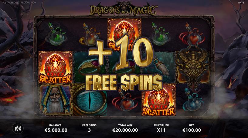 Dragons and Magic Slot Screenshot 1