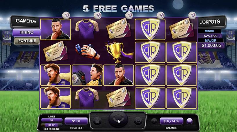Football Fortunes Slot Screenshot 1