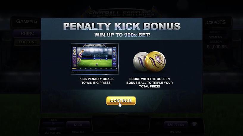 Football Fortunes Slot Screenshot 2