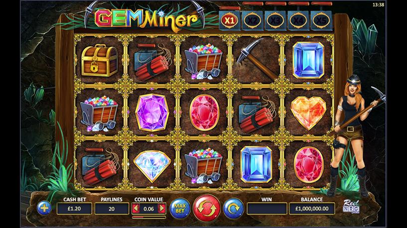 Gem Miner Slot Screenshot 3