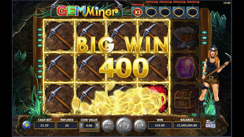 Gem Miner Slot Screenshot 1