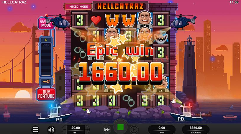 Hellcatraz Slot Screenshot 2