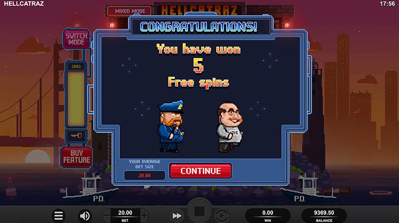 Hellcatraz Slot Screenshot 3