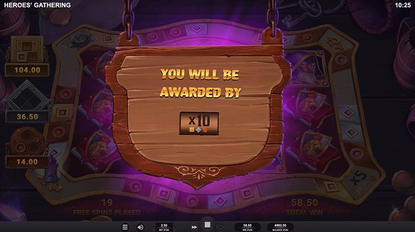 Heroes' Gathering Slot Screenshot 1