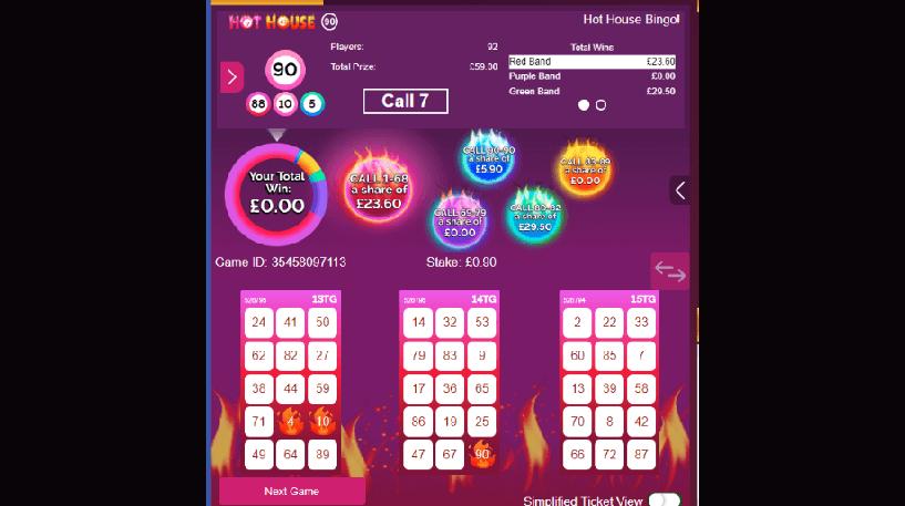 Hot House Bingo Screenshot 2