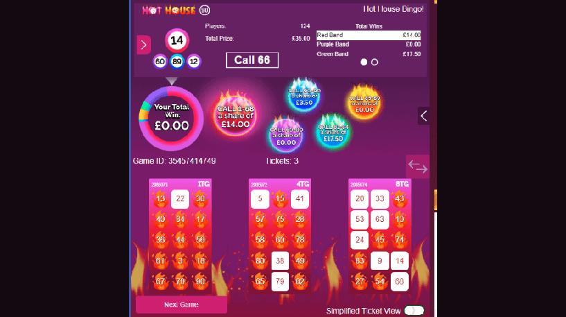 Hot House Bingo Screenshot 1