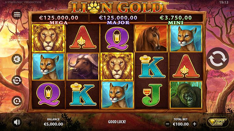 Lion Gold Super Stake Slot Screenshot 1