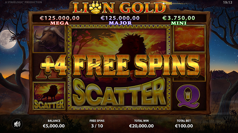 Lion Gold Super Stake Slot Screenshot 2