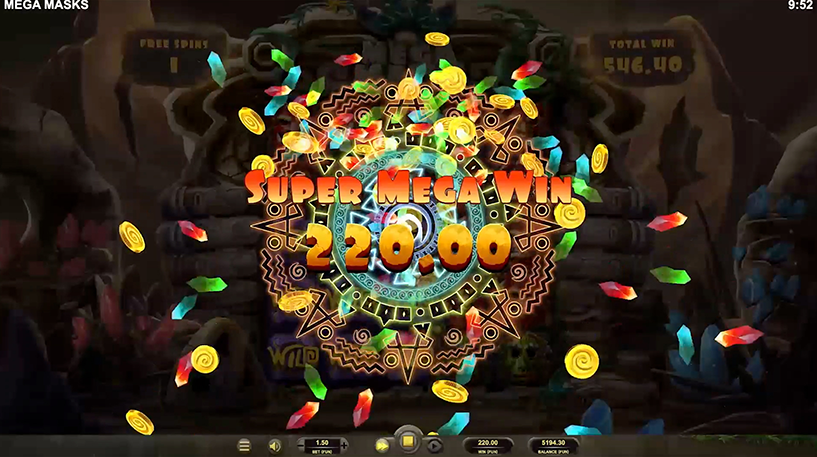 Mega Masks Slot Screenshot 2