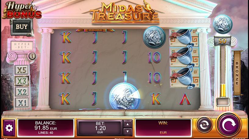 Midas Treasure Slot Screenshot 1
