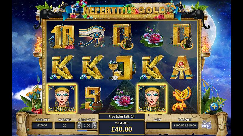 Nefertiti's Gold Slot Screenshot 2