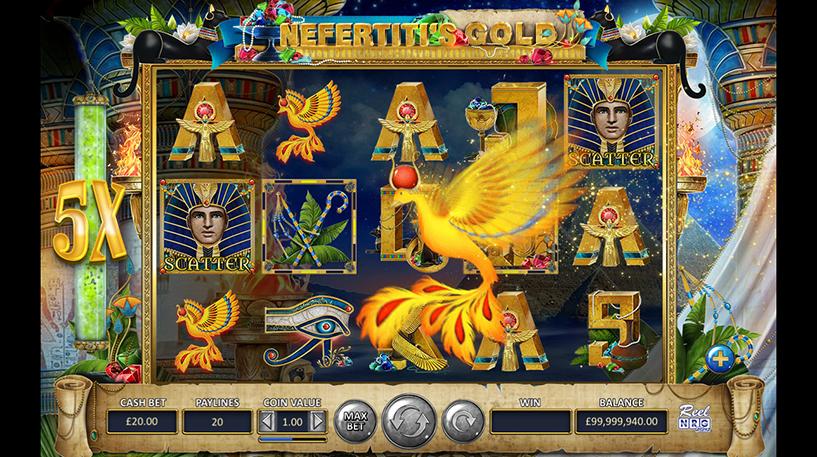 Nefertiti's Gold Slot Screenshot 1