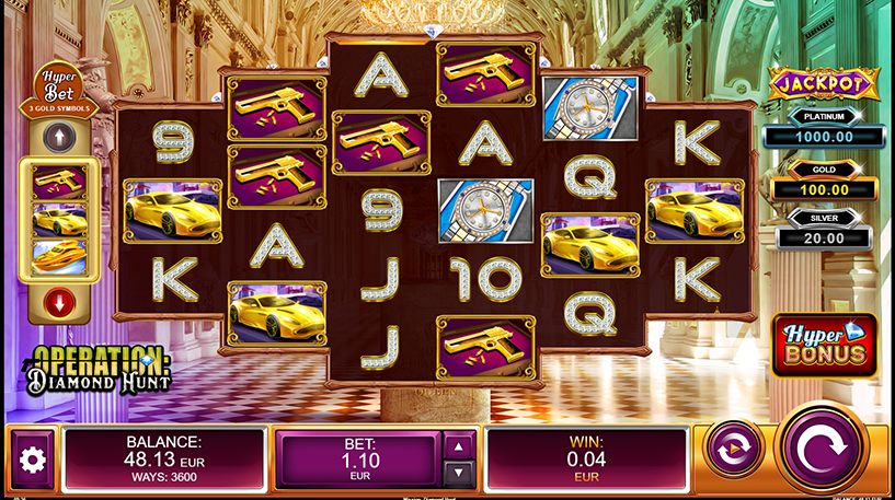 Operation: Diamond Hunt Slot Screenshot 1