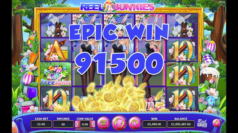 Reel Bunnies Slot Screenshot 2